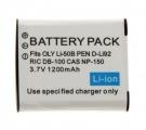 Baterie pro Olympus LI-50B, Pentax D-Li92, Ricoh DB-100 1200mAh