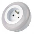 Zvětšit fotografii - Noční LED světlo se zásuvkou na 230V - 3xLED, čidlo reagující na setmění