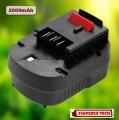 2000mAh baterie pro AKU Black and Decker FS120B, FSB12, HPB12, FS120BX 12V