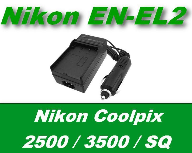 2v1 nabíječka baterie EN-EL2 pro Nikon Coolpix 2500 / 3500 / SQ