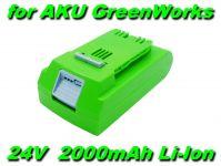 AKU Baterie 29842, 29322 pro nářadí GreenWorks 24V 2000mAh Li-Ion nahrazuje ORIGINÁL
