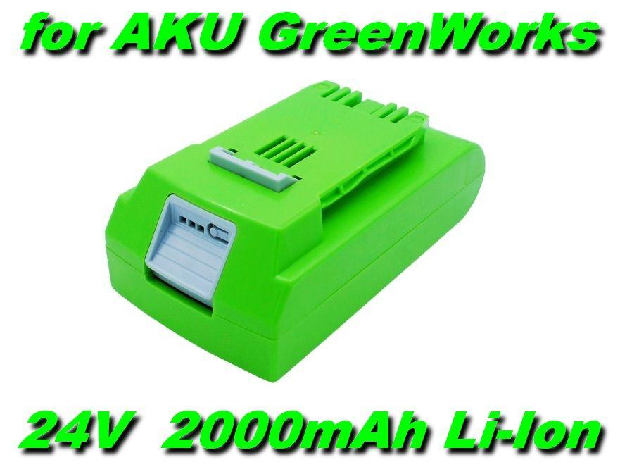AKU Baterie pro nářadí GreenWorks 24V 2000mAh Li-Ion nahrazuje ORIGINÁL