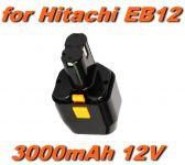 Baterie Hitachi EB12, EB1224, EB12B, EB12G, EB12S, FEB12S12 12V 3000mAh Ni-Mh neoriginální