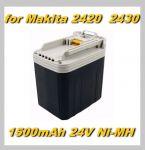 Baterie Makita 2420, 2430 do BML240, BHP460, BDF460, BHR200, BJR240 1500mAh 24V Ni-Mh neoriginální