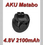 AKU baterie Metabo Powermaxx 4, Powergrip 2 4,8V NI-MH 2100mAh nahrazuje ORIGINÁL