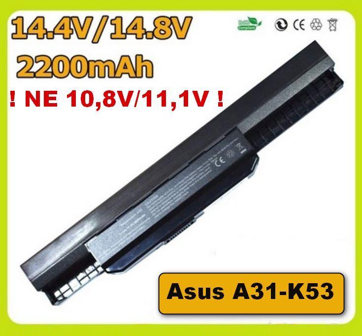 Baterie A31-K53, A32-K53 pro Asus A53, A54, A83, K43, K53, K54, K84, X43 2200mAh 14,4V/14,8V Li-Ion
