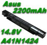 Baterie A41N1424 pro Asus GL552, ZX50, FX Plus 14,8V 2200mAh nahrazuje ORIGINÁL