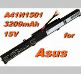 Baterie A41N1501 pro Asus GL752, N552, N752 serie 3200mAh nahrazuje ORIGINÁL