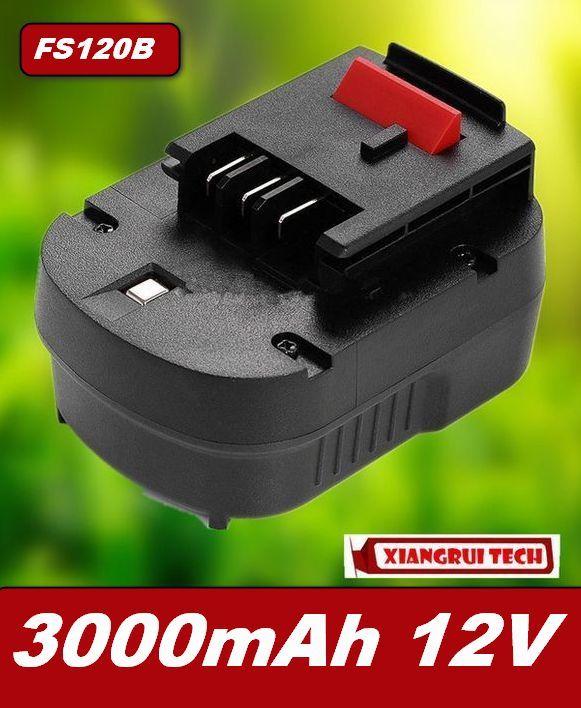 Baterie Black & Decker FS120B, FSB12, HPB12, FS120BX 12V 3000mAh Ni-MH