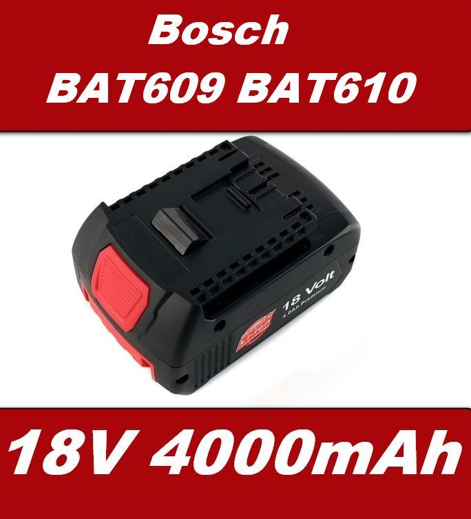 Baterie Bosch BAT609, BAT610, BAT618 18V 4000mAh Li-Ion