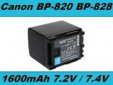 Baterie Canon BP-820, BP-828 1600mAh Li-Ion 7,2V neoriginální