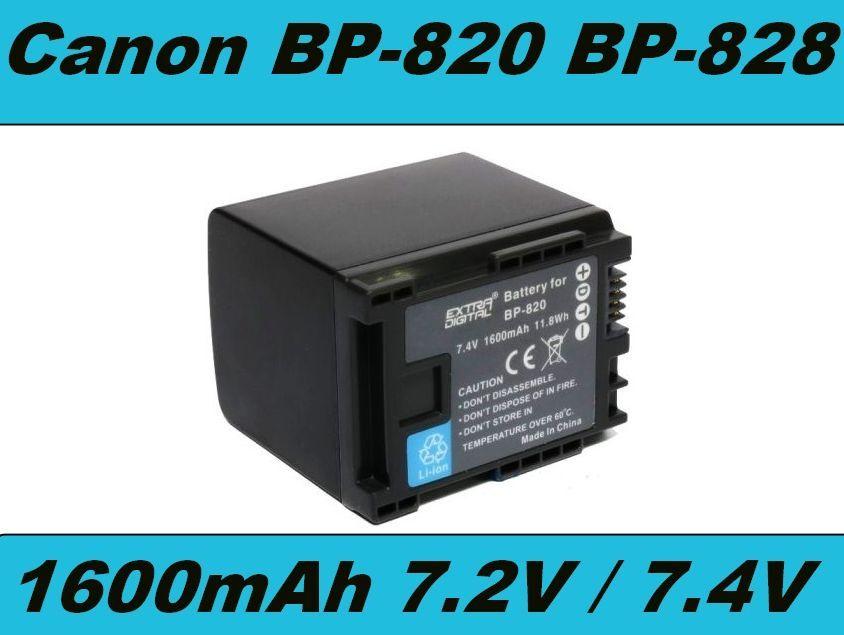 Baterie Canon BP-820, BP-828, BP-827, BP-819 1600mAh