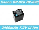 Baterie Canon BP-820, BP-828 2400mAh 7,2V Li-Ion s ČIPEM INFO neoriginální