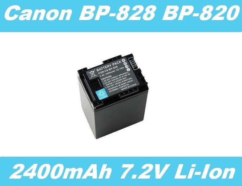 Baterie Canon BP-820, BP-828 2400mAh 7,2V Li-Ion s ČIPEM INFO