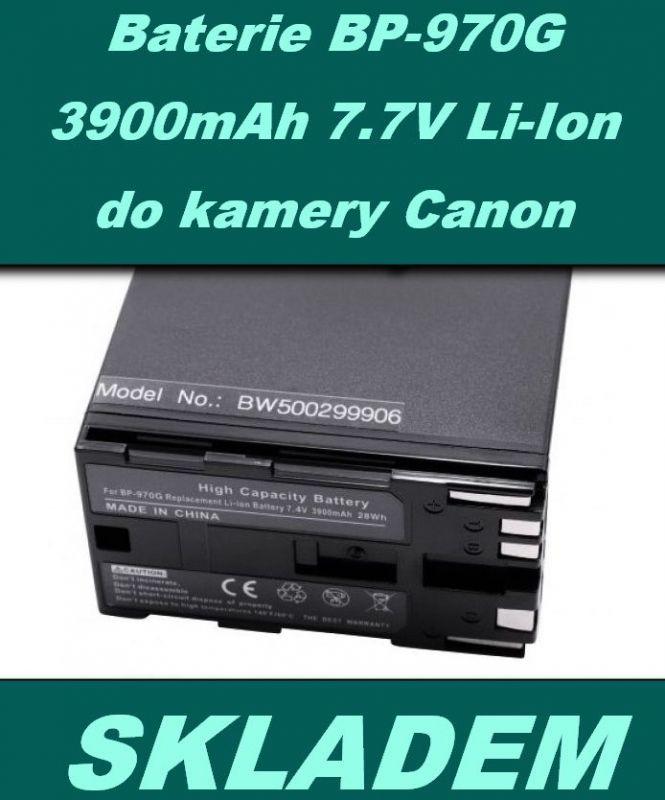 Baterie Canon BP-970G, BP-925, BP-955, BP- 975 3900mAh 7,4V neoriginální