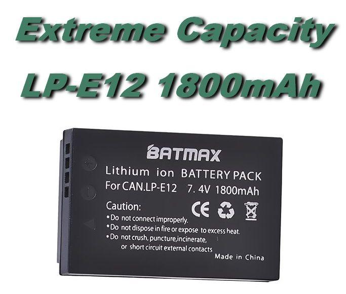 Baterie LP-E12 pro fotoaparát Canon 1800mAh