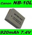 Baterie Canon NB-10L 920mAh 7,4V Li-ion neoriginální