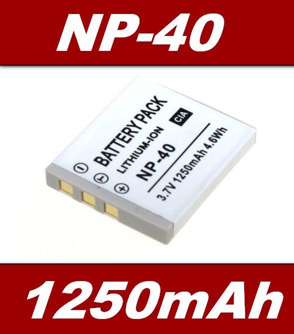 Baterie Casio NP-40, NP-40DBA, NP-40DCA, Pentax LB-060 1250mAh neoriginální