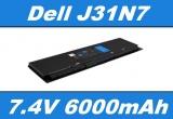 Baterie J31N7, KWFFN pro DELL Latitude E7240, E7250 6000mAh Li-Pol 7,4V neoriginální