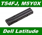 Baterie T54FJ, M5Y0X pro Dell Latitude E5420, E5430, E6420 4400mAh 10,8V / 11,1V neoriginální
