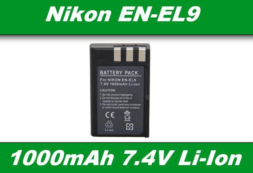 Baterie EN-EL9 pro Nikon D3000, D40, D40x, D5000, D60 1000mA