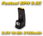 AKU Baterie BPH 9.6C pro Festool CCD9.6, CCD9.6ES , CCD9.6FX, CDD9.6 2100mAh 9,6V Ni-MH neoriginální