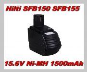 Baterie Hilti SFB150, SFB155 15,6V 1500mAh Ni-MH nahrazuje ORIGINÁL