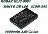 Baterie Kodak KLIC 5001 1600mAh Li-Ion neoriginální