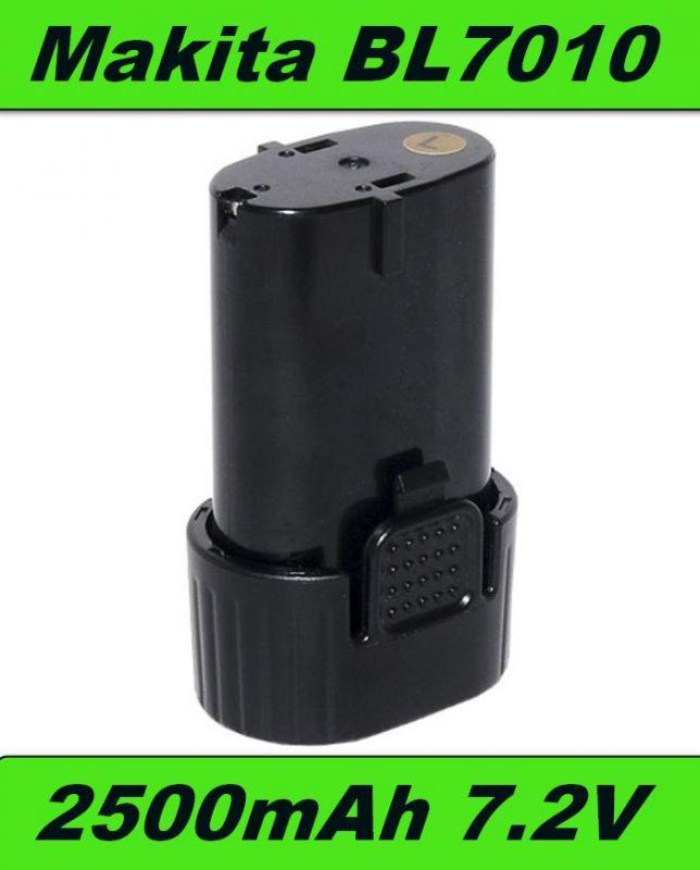 BL7010 AKU Baterie pro Makita CL070, CL072, DF010, TD020, TD021, GN900 7,2V 2500mAh Li-Ion