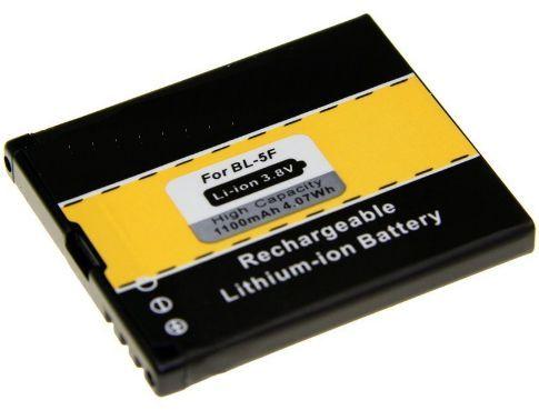 Baterie Nokia E65, N93i, N95, N96, 6210 Navigator, 6290, 6710 1100mAh Li-Ion neoriginální
