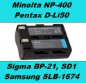 Baterie NP-400 pro Konica Minolta fotoaparáty 1600mAh Li-Ion 7.4V neoriginální
