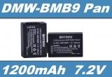 Baterie Panasonic DMW-BMB9E 1200mAh Li-Ion 7.2V neoriginální