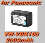 Baterie Panasonic VW-VBK180 2000mAh neoriginální