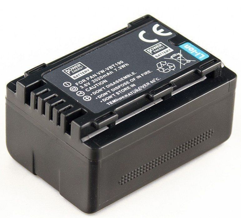 Baterie VW-VBT190, VW-VBT380 Panasonic 2020mAh s čipem
