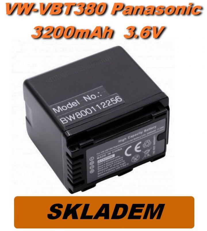 Baterie Panasonic VW-VBT380 3200mAh s čipem