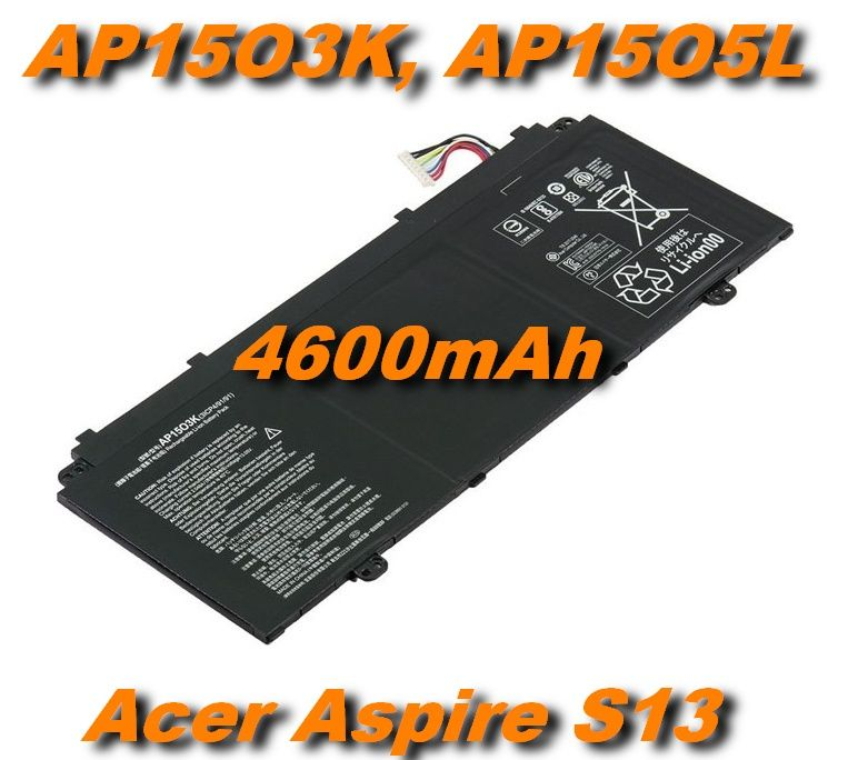 AP15O3K, AP15O5L Baterie pro Acer Aspire S13 S5-371, Chromebook R13 CB5, Swift 5 4600mAh 11,55V