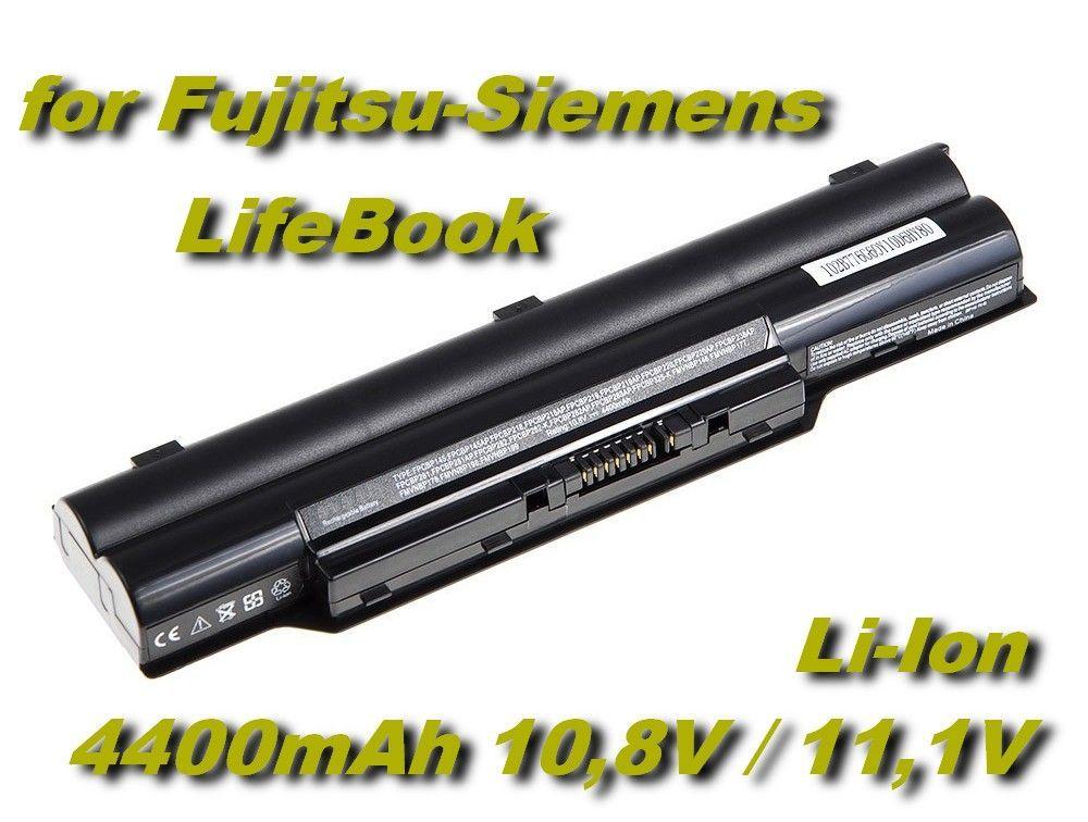 Baterie pro Fujitsu-Siemens LifeBook, Biblo 4400mAh 11,1V Li-Ion