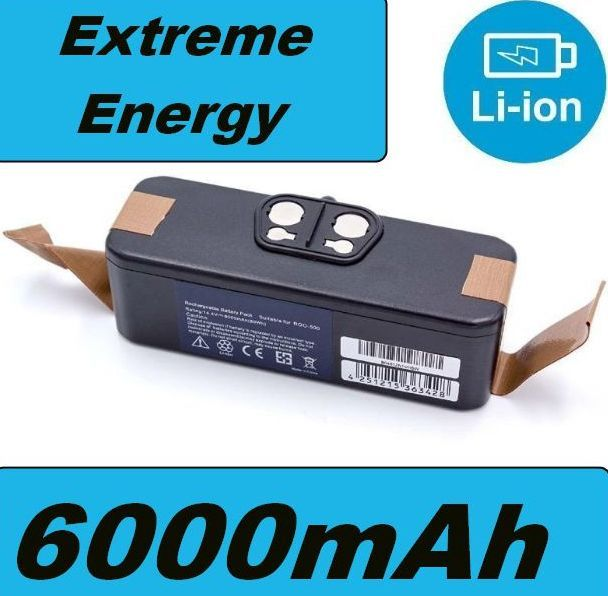 Baterie pro iRobot Roomba 500, 600, 700, 800, 900, Scooba 450 6000mAh Li-Ion 14,4V