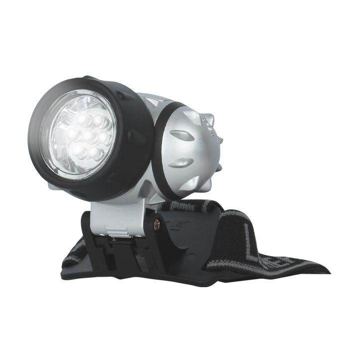 LED Čelová svítilna - čelovka 7 diod, 35 lm