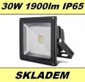 LED reflektor 30W 1900lm IP65 ECO až 30000 hodin venkovní