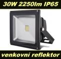 LED reflektor, světlomet 30W 2250lm IP65 ECO -20°C až +50°C venkovní