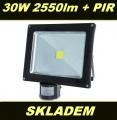 LED reflektor ECO 30W 2550lm PIR senzor pohybu venkovní
