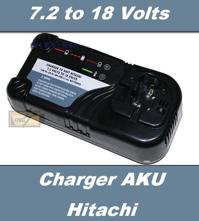 Nabíječka AKU baterie Hitachi o napětí 7,2V 9,6V 10,8V 12V 14,4V 18V Ni-CD, Ni-MH, Li-Ion