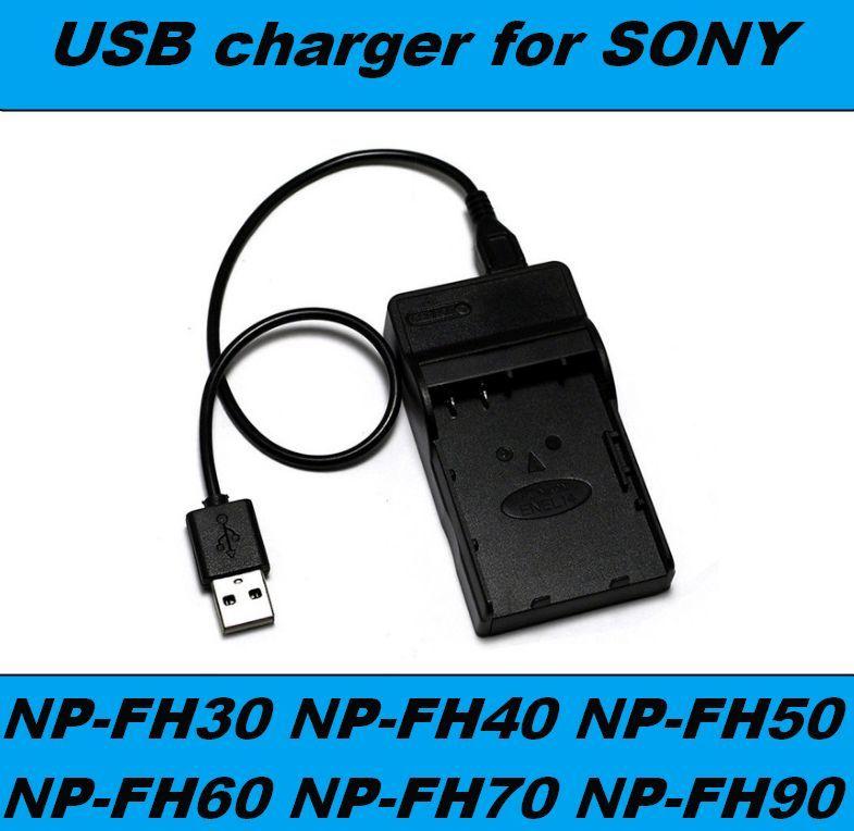 Nabíječka baterie SONY NP-FH30, NP-FH40, NP-FH50, NP-FH60, NP-FH70, NP-FH90 USB flexibilní