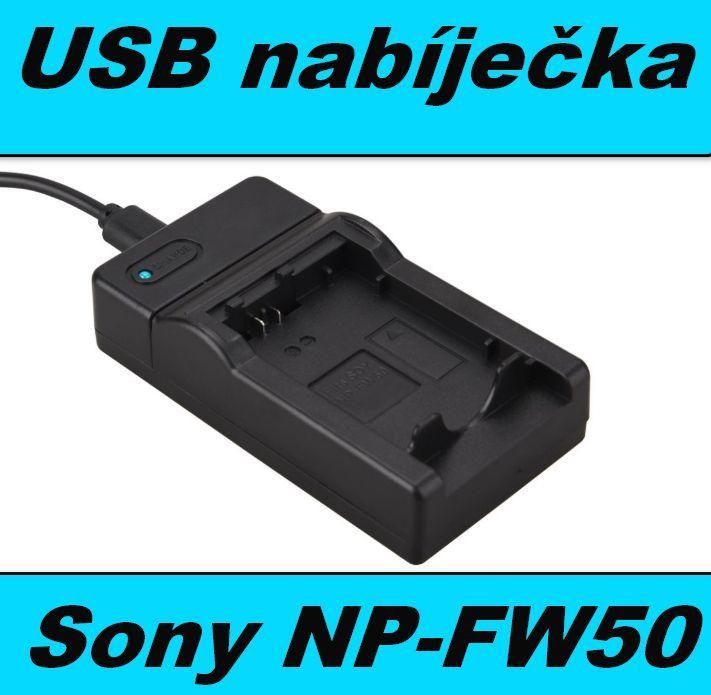 Nabíječka baterie SONY NP-FW50 flexibilní, neoriginální