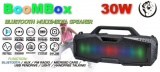 PartyBox 30W přenosný reproduktor AUX, USB port, slot na micro SD kartu, FM radio, ekvalizér, LED