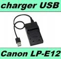 USB nabíječka baterie CANON LP-E12 flexibilní neoriginální