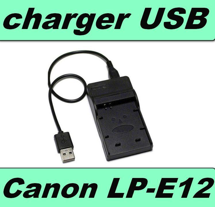 USB nabíječka baterie CANON LP-E12 flexibilní