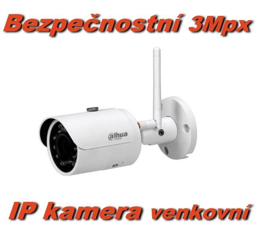 Venkovní bezpečnostní WiFi IP kamera 3Mpx, PIR, slot na micro SD kartu