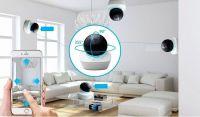 Vnitřní bezpečnostní IP PT WiFi kamera 3 Mpx , IR přísvit do 10 m, mirofon, 5V CEL-TEC